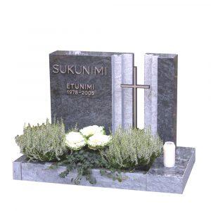 Kivilähde, gravsten, tvådelade