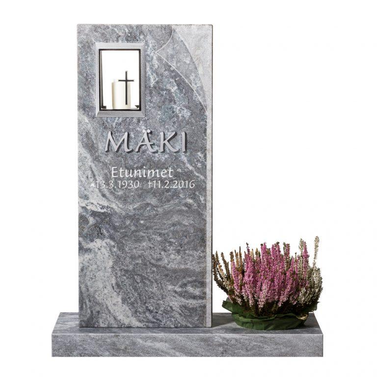 Kivilähde, hautakivet, lyhty