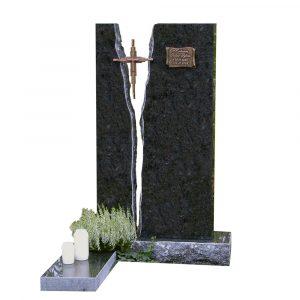 Kivilähde, hautakivi, kaksiosainen
