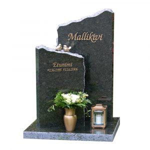 Kivilähde, gravstenar, tvådelade