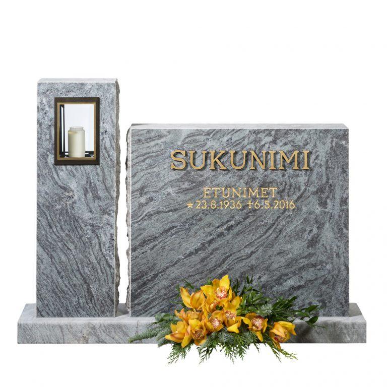 Kivilähde, gravstenar, med lykta, lyktstenar, diamantborstad
