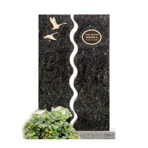 Kivilähde, hautakivet, joutsenet