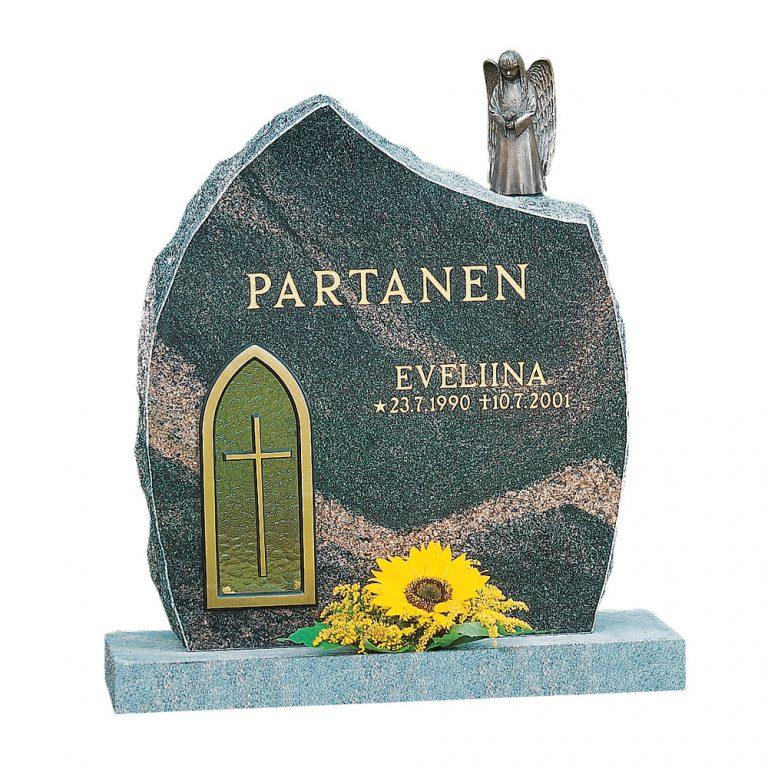 Kivilähde, gravstenar, ängel, med lykta, lyktstenar