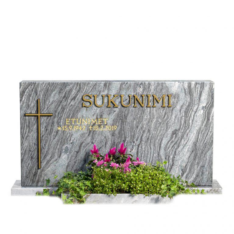 Kivilähde, hautakivi, kotimainen, Pohjolan loimu, timanttiharjattu