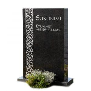 Kivilähde, gravsten, ornament