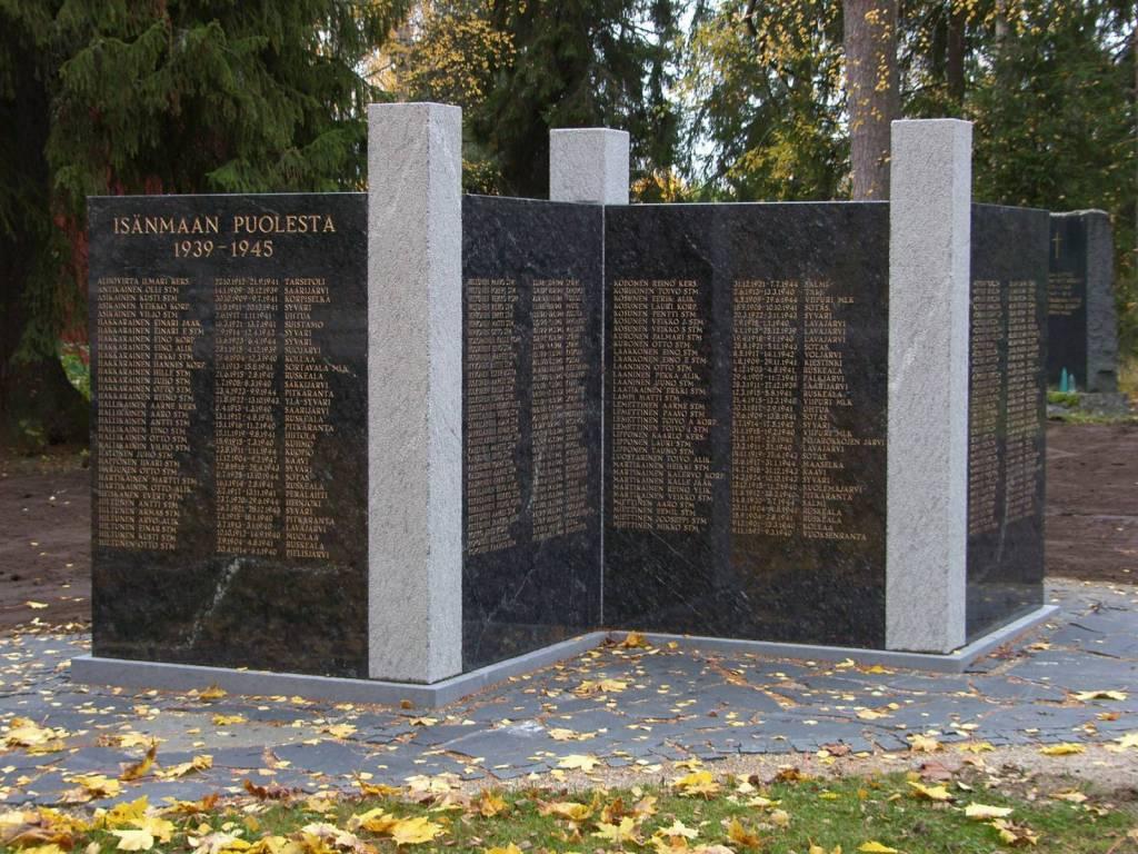 Sankarivainajien muistomerkki Kaavi
